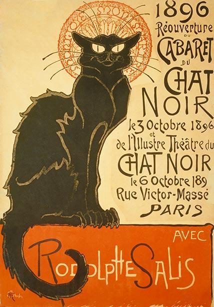 Reouverture Du Cabaret Du Chat Noir Custom Print