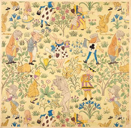 Alice In Wonderland Design For Fabric Custom Print